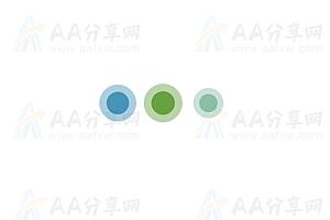 纯CSS实现动态圆圈大小弹性变化加载中特效动画
