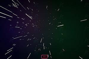 炫酷宇宙空间动态射线粒子js特效动画背景