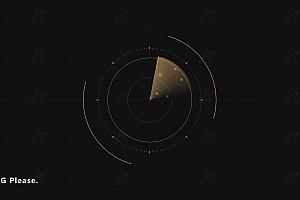 jQuery模拟雷达扫描经纬度定位canvas特效背景动画