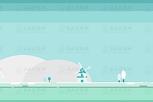 纯CSS实现风车云朵雪花飘落唯美冬天场景特效动画