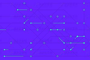 动态数字科技电路板js特效动画