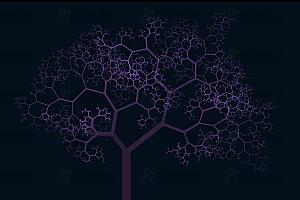 多彩精灵树随机生成js动画