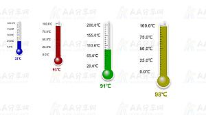 jQuery多彩温度计数据动态展示特效代码