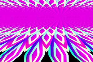 炫酷多彩多边形动态变幻js特效背景动画