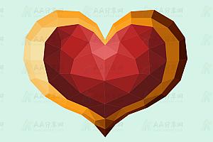 3D立体质感聚合爱心js特效动画