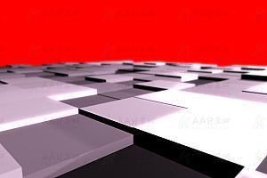 3D动态方形板砖升降带阴影效果canvas动画