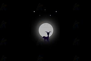 纯CSS实现点点繁星月亮梅花鹿特效动画