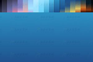 纯CSS实现多彩渐变天空色块特效背景代码