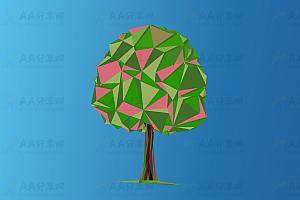 多彩3D精灵树背景色树叶动态变幻js特效动画