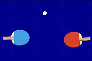 纯CSS实现绘制打乒乓球动画效果特效代码