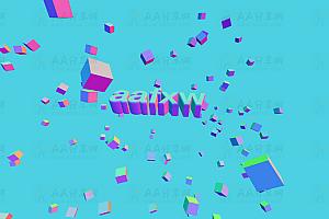 炫酷3D立体空间图形动态展示js特效动画
