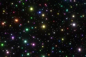 多彩绚丽宇宙星空动态群星闪耀粒子canvas动画背景