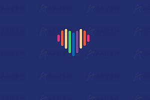 纯CSS实现多彩线条爱心加载中特效动画