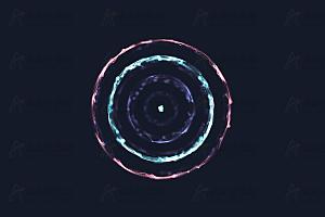 多彩火焰水波光环canvas特效动画