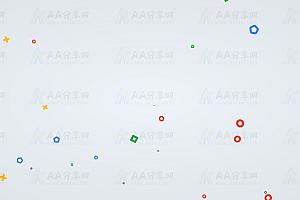 多种形状图形随机上升飘动js动画背景
