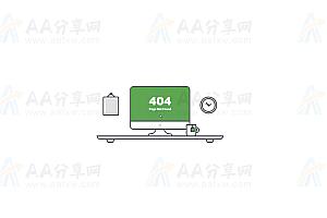 SVG绘制创意卡通风格网页找不到404错误特效动画
