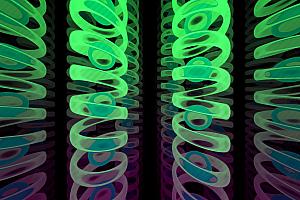 炫酷多彩3D弹簧动态运动展示js动画