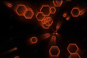 炫酷多彩正六边形跟随鼠标移动变幻canvas动画
