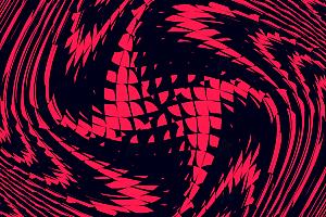 炫酷旋转飞舞花瓣形随机图案js动画效果