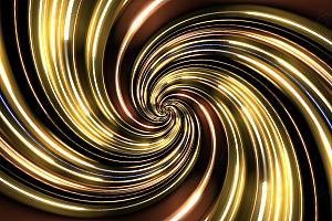 多彩飓风旋涡状彩带灯带变幻canvas特效动画