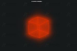 纯CSS实现炫酷发光发亮3D立方体特效动画