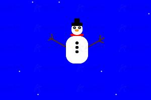 纯CSS实现圣诞雪人雪花飘落特效动画