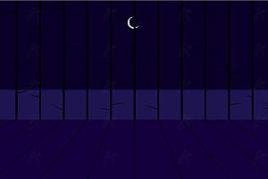 风高夜黑树林月亮背景js效果