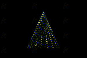 原生js实现动态旋转闪亮圣诞树canvas动画