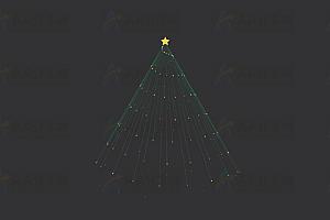 纯CSS实现多彩闪亮动态旋转圣诞树特效动画