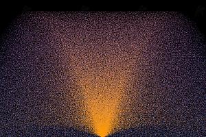 璀璨烟花粒子向上迸发喷射js动画