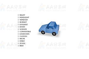 纯CSS实现3D卡通汽车模型选择展示各种姿态特效动画