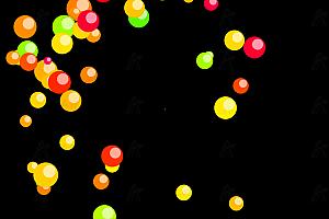 原生js实现多彩炫酷气球气泡喷撒随机飘动特效动画