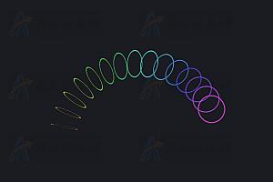 多彩弹簧圆圈动态加载中js特效动画