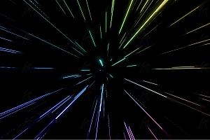 多彩炫酷激光射线光束粒子散射js动画