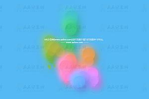 鼠标经过随机产生多彩上升气泡js动画效果