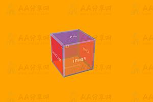 纯CSS实现3D立体正方体动态旋转背景色变幻特效动画