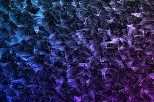 多彩水晶透明冰块动态翻转js动画