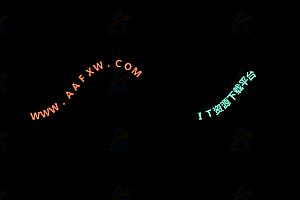 炫酷文字曲线路径动态运动js动画