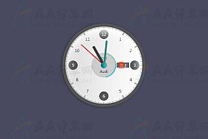 简单实用多功能圆形精美时钟js插件
